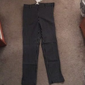 Striped slacks